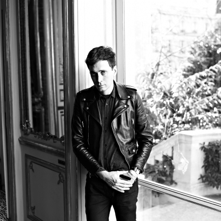 UNSPECIFIED LOCATION - OCTOBER 2012: (EDITORS NOTE: This image was provided in B&W, a colour version is NOT available) In this handout image provided by Yves Saint Laurent, Hedi Slimane, Yves Saint Laurent Designer poses during a portrait session in October, 2012. (Photo by Yves Saint Laurent via Getty Images)